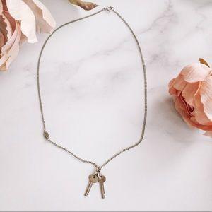 Vintage juicy couture silver key necklace